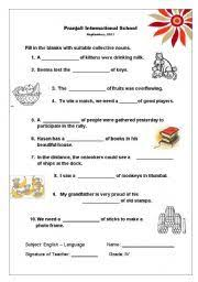 english teaching worksheets collective nouns worksheets