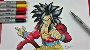 drawing goku super saiyan 4 dragonball gt tolgart