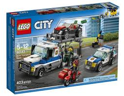 black friday lego 2017 no matt 2017 60143 auto transport heist 403 pieces lego city