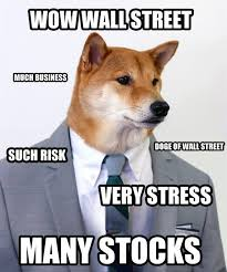 What Is The Doge Meme - wow wall street much business doge meme picsmine