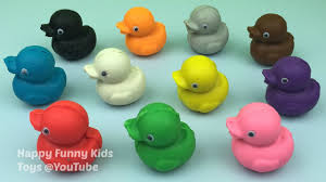 learn colours with play dough ducklings with gingerbread man