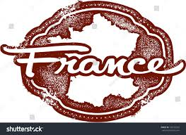 vintage style france country travel stamp stock vector 136135535
