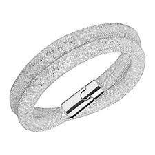 bracelet crystal silver images Swarovski crystal silver tone stardust deluxe bracelet jpg