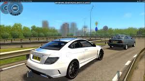 mercedes city car city car driving mercedes c63 amg coupe black series 1080p