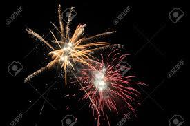fireworks lantern fireworks in the sky on the lantern festival stock