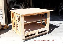 diy pallet work table make a moveable work bench from a shipping pallet shipping