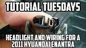 hyundai elantra headlight bulb hyundai elantra how to change headlight bulb demonstrated on a