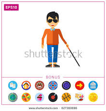 Blind Man Cane Blind Man Cane Icon Stock Vector 700017466 Shutterstock