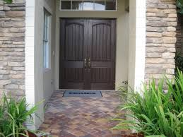 Exterior Doors For Home by Outstanding Double Front Doors For Homes Featuring Brown Solid