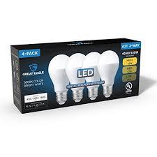 led bulb in 3 way l great eagle 40 60 100w equivalent 3 way a21 led light bulb 3000k