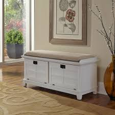 White Wood Storage Bench Interior Entryway Bench And Coat Rack Shoe Cubby Bench Cushioned