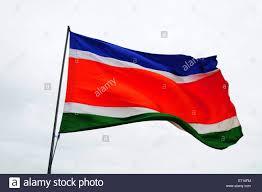 Flying Flag Flag Of Maharashtra Navnirman Sena Mns India Stock Photo