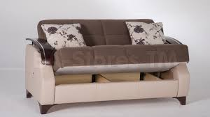 trento 2 pc living room set selen brown sofa sleeper and love