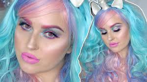 pretty halloween makeup tutorial colorful unicorn inspired