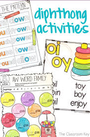 diphthongs activities for practicing the phonics patterns aw