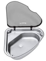 stainless corner sink sinks galley bathroom thetford stainless corner sink with lid