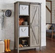 Hutch Kitchen Cabinets Small Kitchen Cabinet Bookcase Rustic Farmhouse Barn Door Pantry
