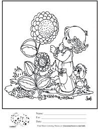 kids coloring page precious moments baby sunflower coloring