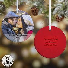personalized 2 sided photo ornament