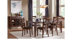 Noah Dining Room Set Riverdale Cherry 5 Pc Rectangle Dining Room X Back Chairs Formal