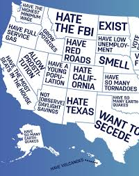 Usa States Map by Google Autocomplete Reveals What People Think Of Different Us