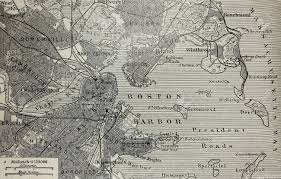 Boston Map by Old Map Of Boston Harbor Stock Photo Picture And Royalty Free