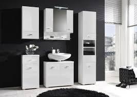 badezimmer set günstig badmöbel badezimmer i 5tlg set in hochglanz weiss ohne