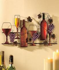 Grapes And Wine Home Decor Wine Grapes Metal Wall Hanging Vineyard Kitchen Home Decor Ebay