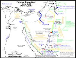 St Joseph River Map The Exodus Route Crossing The Red Sea