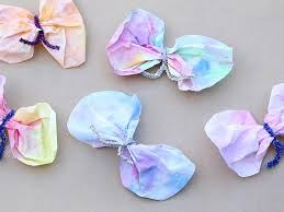 crafts coffee filter butterflies video babycenter