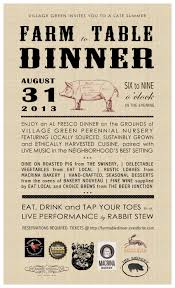 farm to table dinner menu invitation layout business ideas