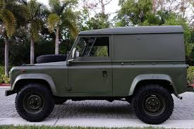 military land rover land rover defender 90 light utility truck diesel rhd 5 speed 86k