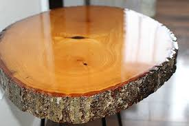 wood slice end table diy resin wood slice side table our crafty mom