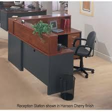 Executive Reception Desk Bush Series C Corsa Reception Desk Hansen Cherry Free Shipping