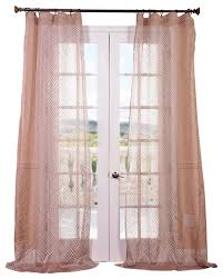 Halfpriced Drapes Zara Taupe Patterned Sheer Curtain Single Panel Contemporary