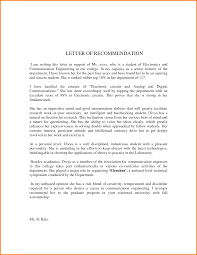 letter of recommendation format 7 letter of recommendation format for student quote templates