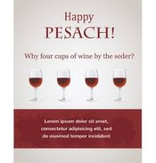 passover 4 cups happy passover 4 cups of wine for seder vector image