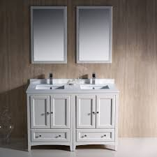 fresca bath fvn20 2424aw oxford double vanity sink 48