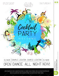 cocktail party poster design stock vector image 81095882