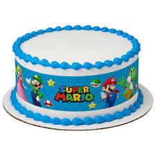 mario cake topper mario brothers cake strips edible cake topper