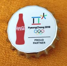 Coca Cola Six Flags Coupon Large Thick Heavy 2018 Pyeongchang Olympic Coca Cola Coke