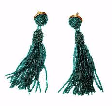 emerald green earrings emerald green tassel earrings molly designs