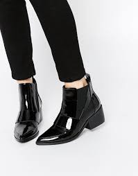 womens boots asos asos run away pointed chelsea ankle boots ankle boots