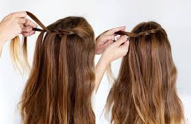 step by step twist hairstyles how to style a double waterfall twist a beautiful mess