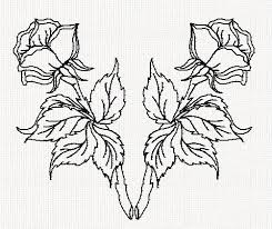 design flower rose drawing rose double flip redwork embroidery embroidery patterns 2