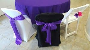 chagne chair sashes bob b s party rentals chair covers