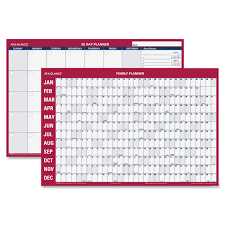 Wall Calendar Organizer At A Glance Pm28 28 Erasable Horizontal Wall Calendar Yearly 1