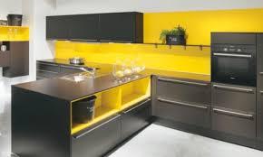cuisine jaune et grise harmoniser murs jaune avec sol gris images kitchens and