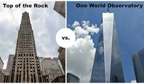 top of the rock vs one world observatory compare major differences