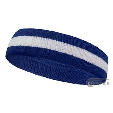 wholesale headbands blue white blue wholesale headband sweat 2color stripe white in